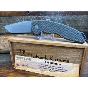 Jake Hoback A15 Slimline Green Micarta Knife