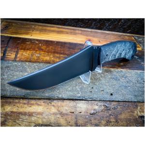 Winkler Crusher Belt Knife Black Sculpted